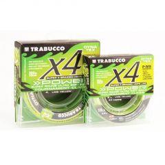 Fir textil Trabucco Dyna-Tex X4 Power UV Lime Yellow 0.14mm/6.81kg/150m