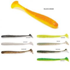 Shad Rapture Rib Slim Shady 7.5cm, culoare Golden Shiner