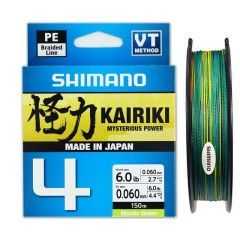 Fir textil Shimano Kairiki 4 PE Braid Multi Color 0.16mm/8.1kg/150m