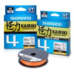 Fir textil Shimano Kairiki 4 PE Braid Orange 0.19mm/11.6kg/150m