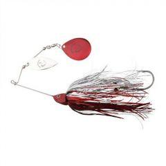 Spinnerbait Savage Gear Da'Bush Nr.3/32g, culoare Red Silver Flash