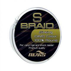 Fir textil Nevis S Braid Camo, 0.26mm/22.7kg/15m