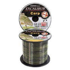 Fir monofilament EnergoTeam Excalibur Carp Camou 0,22mm/3000m