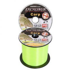 Fir monofilament EnergoTeam Excalibur Carp Fluo Yellow 0,35mm/3000m