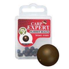 Carp Expert Rubber Beads Brown 4mm