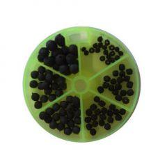 Carp Academy Rubber Beads Black