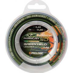 Fir monofilament Prologic Mimicry Leader Green Helo 0.40mm/11kg/100m