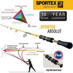 Lanseta Sportex Absolut 1.80m (model 2016), 20g