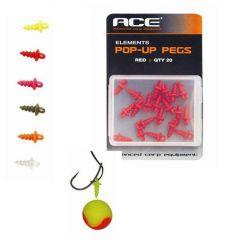 Surub momeala ACE Pop Up Pegs - Fluorescent Orange