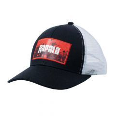 Sapca Rapala Splash Trucker Cap Black/Red