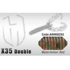 Grub Colmic Herakles X35 Double Claw 8.9cm Watermelon Red