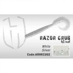 Grub Herakles Razor Grub 11.4cm White Silver