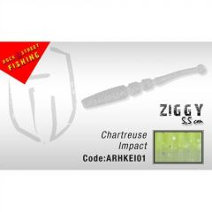 Shad Colmic Herakles Ziggy Shad 5.5cm Chartreuse Impact