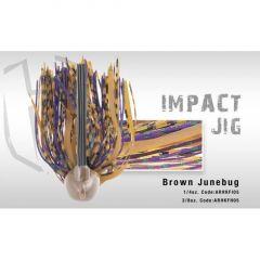 Jig Colmic Hearkles Impact antibradis 3/0 3/8oz 10.5gr Brown/Junebug