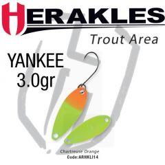 Lingura oscilanta Colmic Herakles Losko 2.5g, culoare Chartreuse Orange