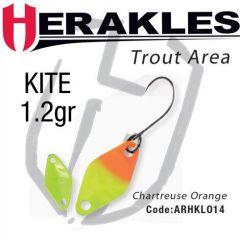 Lingura oscilanta Colmic Herakles Kite 1.2g, culoare Chartreuse Orange
