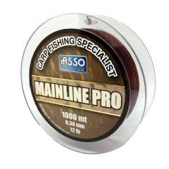 Fir monofilament Asso Mainline Pro Brown 0.28mm/4.54kg/1000m