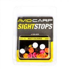 Stopper Avid Carp Mega Sight Stops Floating  Long - Mixed Colours