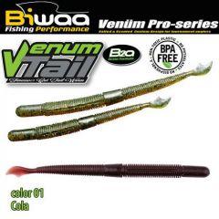 Shad Biwaa Venum Tail 10cm, culoare 01 Cola