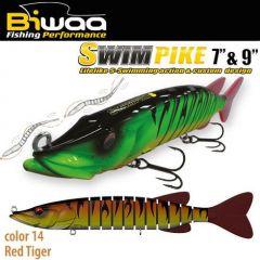 "Swimbait Biwaa Swimpike SS 9"" 24cm/62g, culoare Red Tiger"
