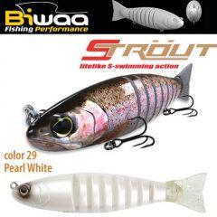 Swimbait Biwaa Strout 14cm/29g, culoare Pearl White