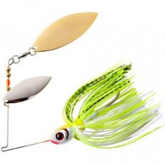 Spinnerbait Booyah Double Willow Blade 1/2oz - Chartreuse White Shad