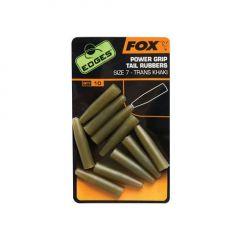 Fox Edges Power Grip Tail Rubbers - Trans Khaki