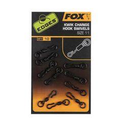 Fox Edges Kwik Change Hook Swivel, nr.10 VArteje rapide
