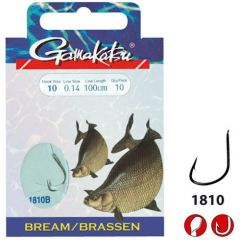 Carlige legate Gamakatsu Bream Feeder Bronze Nr.10/0.14mm