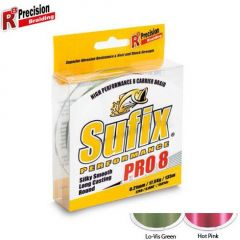 Fir textil Sufix Performance Pro 8 Lo-Vis Green 0.12mm/8.2kg/135m