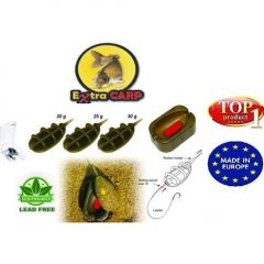 Momitor Extra Carp Method Feeder 20gr,25gr,30gr 3+1 Set