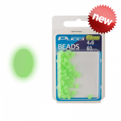 P-Line Pucci Soft Green Egg Glow Beads 8mm