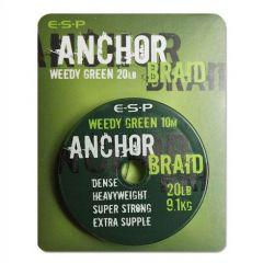 Fir textil ESP Anchor Braid Weed Green 20lb/10m