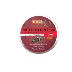 Fir textil EVOS Method Pro 12X Special Braid 0.14mm/14.20kg