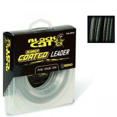 Fir textil Black Cat Rubber Coated Leader 0.80mm/700kg/20m