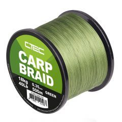 Fir textil C-Tec Carp Braid Green 0.35mm/18kg/500m