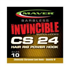 Carlige Maver Invincible CS24 Hair Rig Power Nr.16