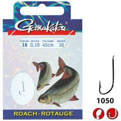 Carlige legate Gamakatsu Roach Nickel Nr.12/0.14mm