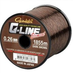 Fir monofilament G-Line Element Dark Brown 0,26mm/5kg/1855m