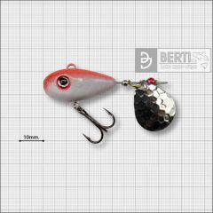 Bertilure Fish Helic Nr.4, culoare Alb-Rosu Fluo, 21gr