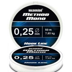 Fir monofilament Haldorado Method Mono Hook Line 0.25mm/7.85kg/50m