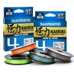Fir textil Shimano Kairiki 4 PE Braid Mantis Green 0.06mm/4.4kg/150m