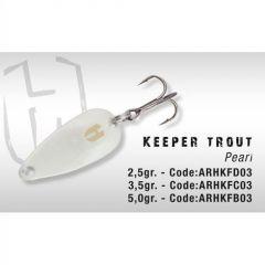 Lingura oscilanta Colmic Herakles Keeper Trout 5gr Pearl