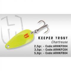 Lingura oscilanta Colmic Herakles Keeper Trout 5gr Chartreuse