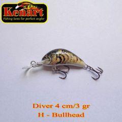 Vobler Kenart Diver F 4cm, culoare H