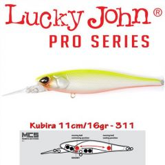 Vobler Lucky John Kubira 110 Plus One 11cm, culoare 311