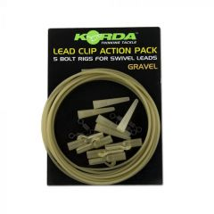 Korda Lead Clip Action Pack - Clay