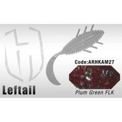Grub Colmic Herakles Leftail 8.9cm Plum Green FLK