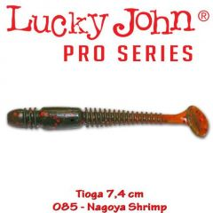 Shad Lucky John Tioga 7.4 cm, culoare Nagoya Shrimp - 7 buc/plic