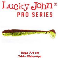 Shad Lucky John Tioga 7.4 cm, culoare Waka Ayu - 7 buc/plic